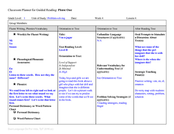 Guided Reading Plus Planner for Mondo Ven a jugar Level B