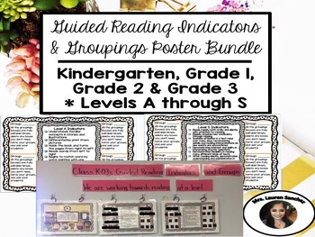 Guided Reading Poster Set [BUNDLE]: Kindergarten Through Grade 3 * Levels A to S