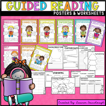 Guided Reading Posters and Comprehension Worksheets