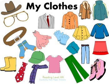 Guided Reading My Clothes
