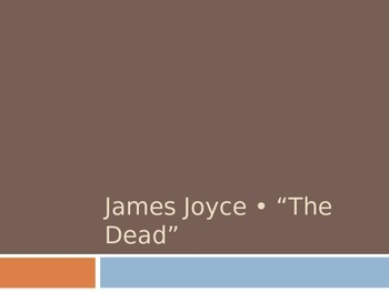 """Guided Reading Presentation for James Joyce's """"The Dead"""""""