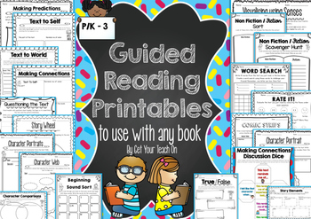 Guided Reading Printables ~ Activities to use with any text
