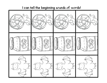 Guided Reading Printables: January Picture Sorts, Beginning and Ending Sounds
