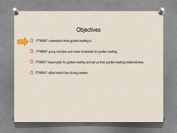 Guided Reading Professional Development powerpoint