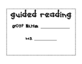 Guided Reading Progress Monitoring Tracker