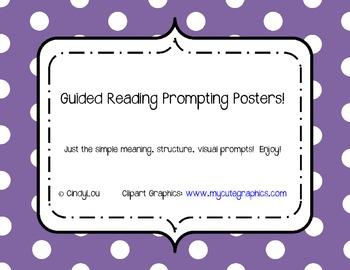 Guided Reading Prompting Posters (meaning, structure, visual)