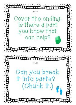Guided Reading Prompts and Decoding Strategies