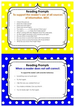 Guided Reading Prompts and Running records