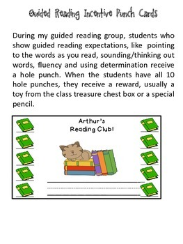 Guided Reading Punch Cards