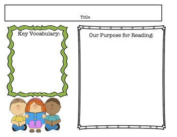 Guided Reading Purpose for Reading Printable