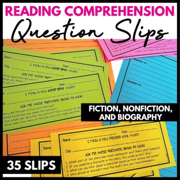 Guided Reading Question Cards #tptsupportsmallshops