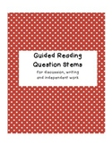 Guided Reading Question Stems and Reading Response Activities (mClass aligned)
