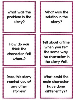 Guided Reading Question Sticks