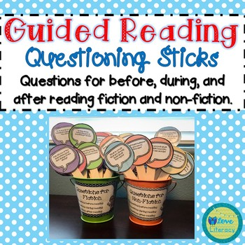Guided Reading Questioning Sticks