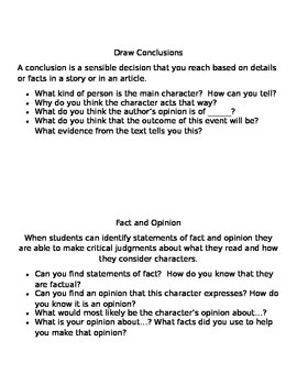 Guided Reading Questioning Cards