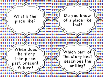 Guided Reading Questions Cards