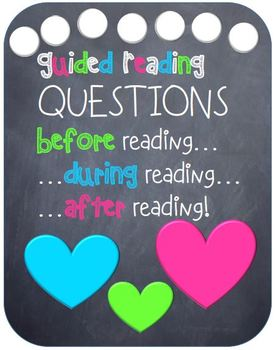 Guided Reading Questions Chalkboard Style
