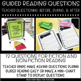 Guided Reading Questions For Fiction & Non-Fiction {Before