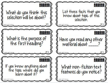 Guided Reading Questions For Fiction & Non-Fiction {Before, During & After}