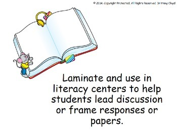 Guided Reading Questions for Literature and Literacy Centers