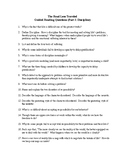 Guided Reading Questions on The Road Less Traveled (Parts I & II)