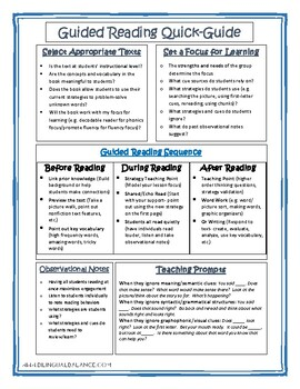 Guided Reading Quick-Guide