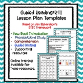 Guided Reading/RTI Lesson Plan Templates with Supporting Resources