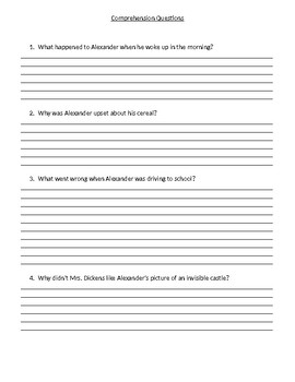 Guided Reading/Read Aloud Plan for Alexander and the Terrible Horrible Level M