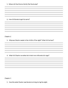 Guided Reading/Read Aloud Plan for Bunnicula Level Q