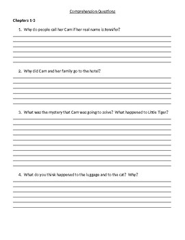 Guided Reading/Read Aloud Plan for Cam Jansen and the Catnapping Mystery Level N