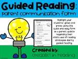 Guided Reading Student Progress Report