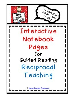 Reciprocal Teaching Interactive Notebook Pages