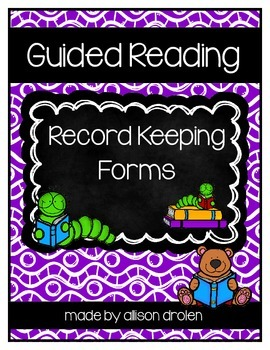 Guided Reading Record Keeping Form