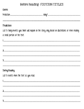 Guided Reading Recording Printables