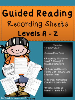 Guided Reading Recording Sheets