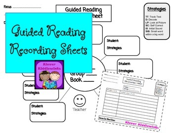 Guided Reading Recording and Observation Sheets