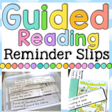 Guided Reading Reminder Slips Distance Learning