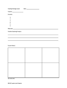 Guided Reading Resource Packet