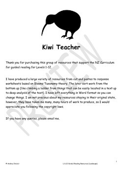 Guided Reading Resources for NZ Teachers - L1-L12 (Portrait)