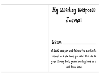 Guided Reading Response Journal