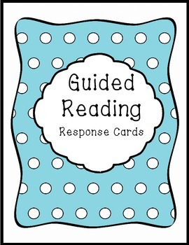 Guided Reading Response Questions