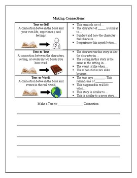 Guided Reading Response Worksheet