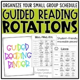 Guided Reading Rotation Schedule, Binder, & Organization