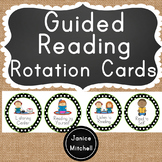 Guided Reading Rotation Circles Black Polka Dot
