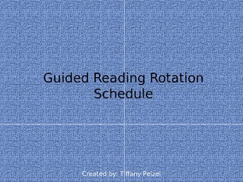 Guided Reading Rotation Schedule