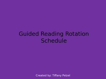 Guided Reading Rotation Schedule - Colorful