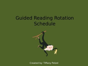 Guided Reading Rotation Schedule - Jungle