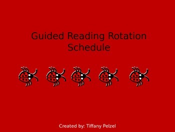 Guided Reading Rotation Schedule - Lady Bug