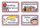 Guided Reading Rotation Timetable Cards