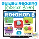 Guided Reading Rotation Board with Timers Editable Digital